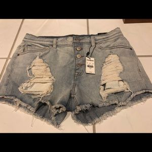 Express High Rise Jean Shorts